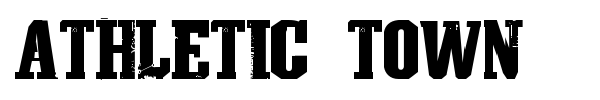 Athletic Town font