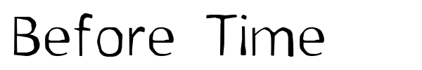 Before Time font