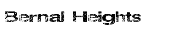 Bernal Heights font