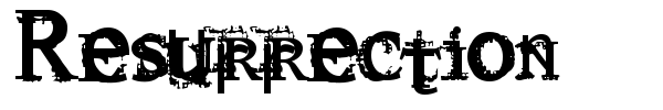 Resurrection font
