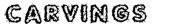 Carvings font
