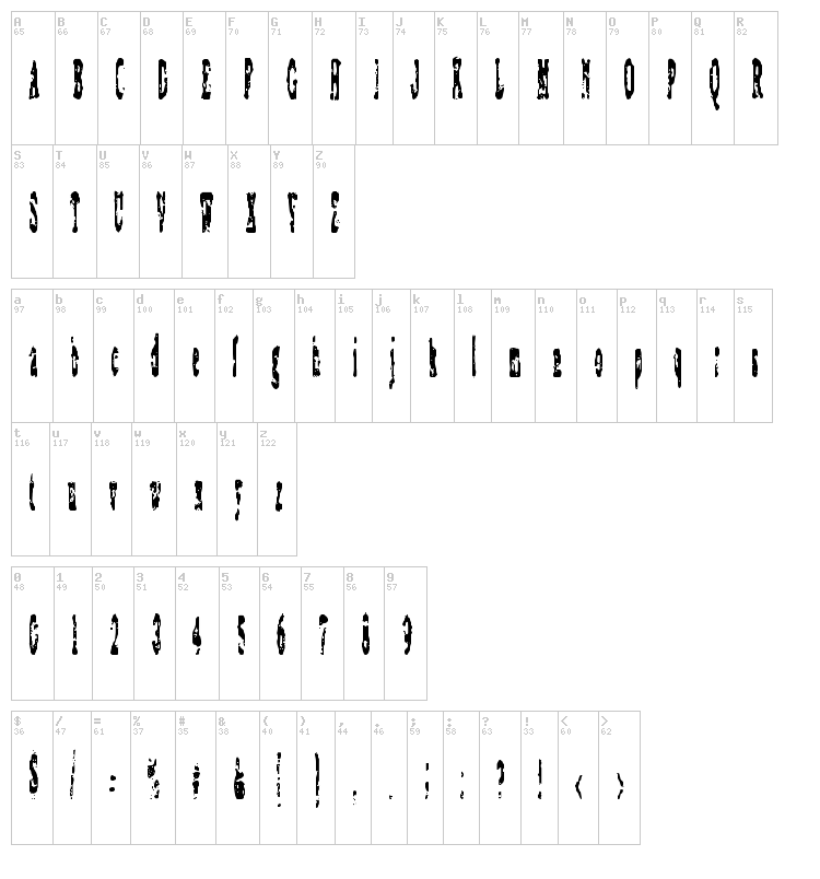 Coagulate font map