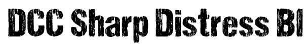 DCC Sharp Distress Black font