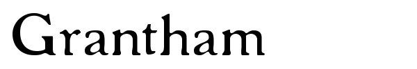 Grantham font preview