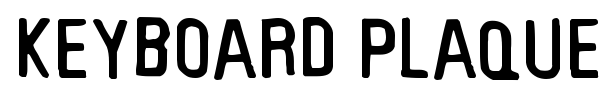 Keyboard Plaque font