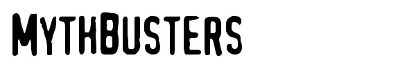 MythBusters font