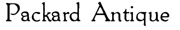 Packard Antique font