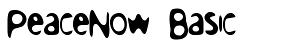 PeaceNow Basic font preview