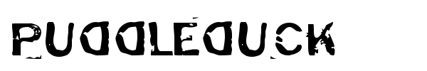 Puddleduck font preview