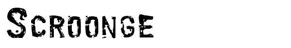 Scroonge font preview