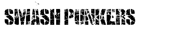 Smash Punkers font preview