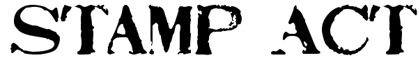 Stamp Act font preview