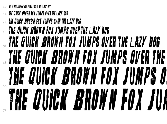 Straight Face font waterfall