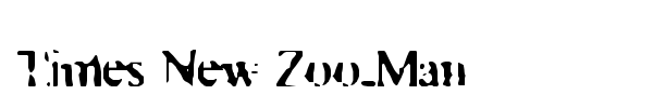 Times New Zoo-Man font