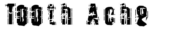 Tooth Ache font preview