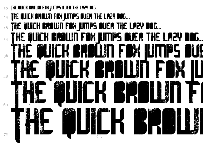 Ultimate Midnight font waterfall