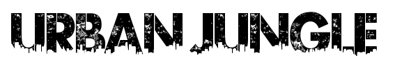 Urban Jungle font preview