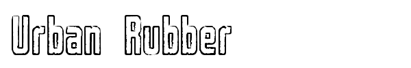 Urban Rubber font preview