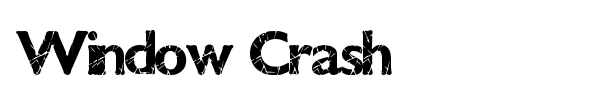 Window Crash font