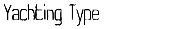 Yachting Type font