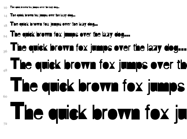 AI Hellvertigo font waterfall