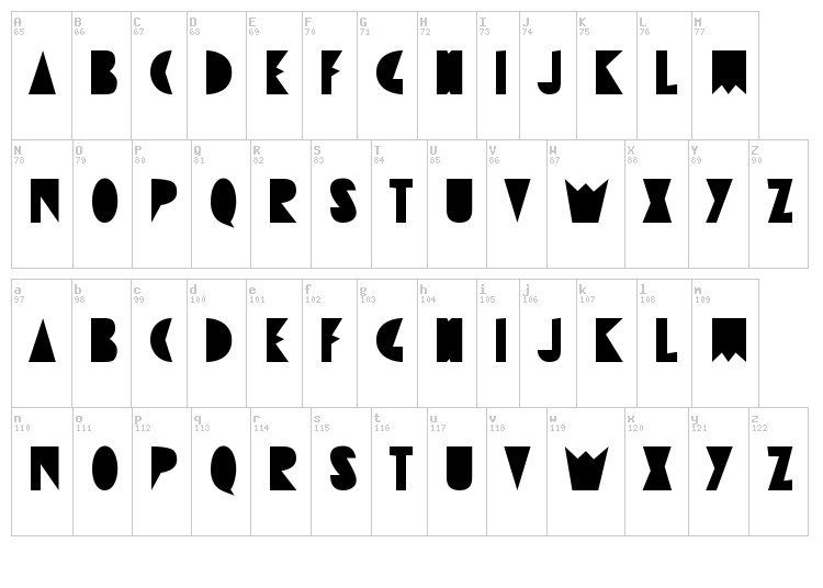 Destrukt font map