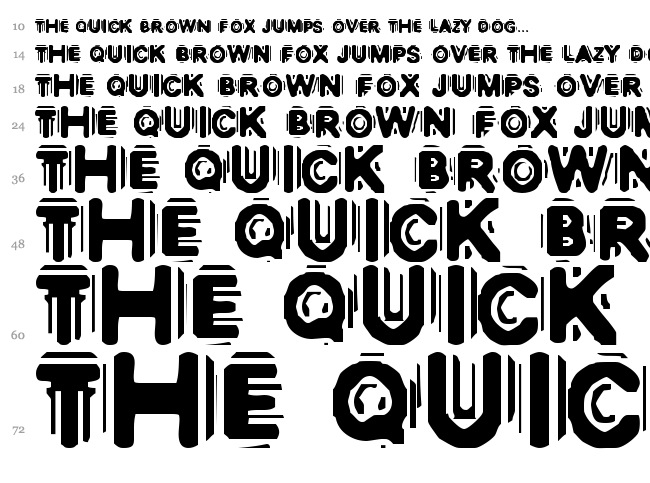 Discobox font waterfall