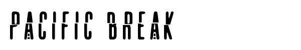 Pacific Break font