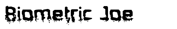 Biometric Joe font