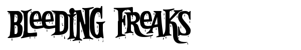 Bleeding Freaks font preview