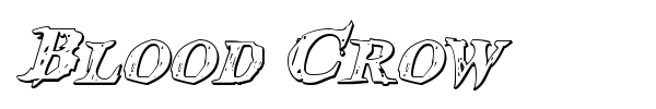 Blood Crow font