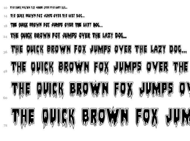 Bloodlust font waterfall