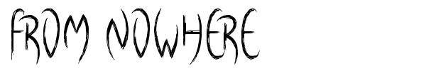 From Nowhere font