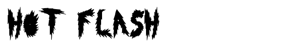 Hot Flash font