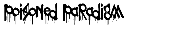 Poisoned Paradigm font