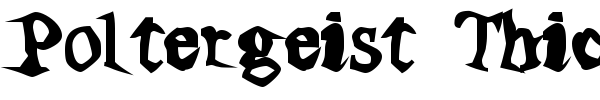Poltergeist Thick font preview
