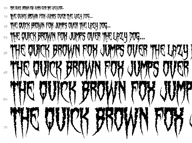 Spiderfingers font waterfall