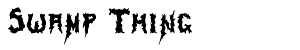 Swamp Thing font