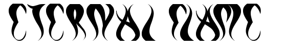 Eternal Flame font