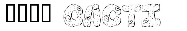101! Cacti font preview