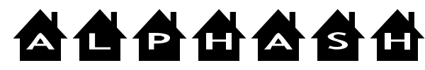 AlphaShapes houses font preview