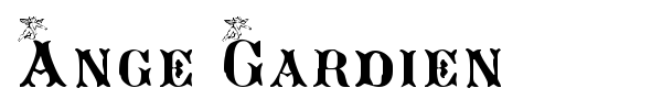 Ange Gardien font preview