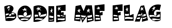 Bodie MF Flag font preview