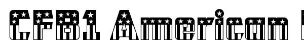 CFB1 American Patriot font preview