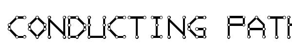 Conducting Paths font