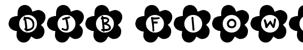 DJB Flower Power font preview