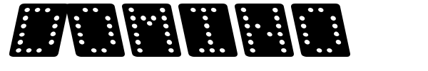 Domino font preview