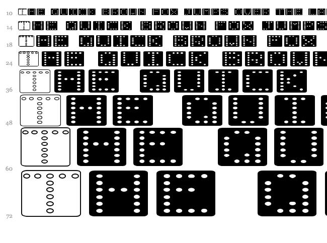 Domino font waterfall