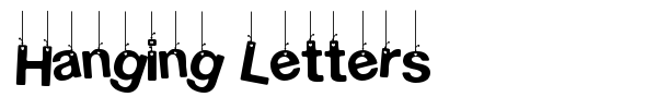 Hanging Letters font