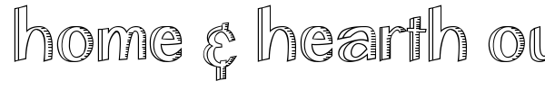 Home & Hearth Outline Bold font